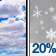 Mostly Cloudy then Slight Chance Light Snow