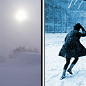 Patchy Blowing Snow then Partly Sunny
