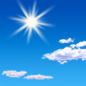 Sunny, with a high near 75. North wind 2 to 6 mph.