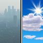 Haze then Mostly Sunny