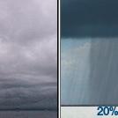 Cloudy then Slight Chance Rain Showers