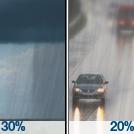 Chance Rain Showers then Slight Chance Drizzle