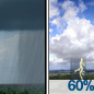 Slight Chance Rain Showers then Showers And Thunderstorms Likely