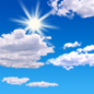 Mostly sunny, with a high near 30.