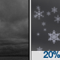 Cloudy then Slight Chance Light Snow