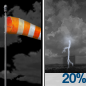 Partly Cloudy then Slight Chance Showers And Thunderstorms